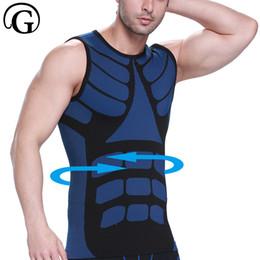 81159d9772 Prayger Male Compression Underwear Tank Top Mens Waist Trainer Body Shaper  Sleeveless Undershirts Breathable Slimming Vest