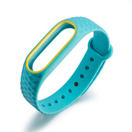 Wholesale 4 Colors Sports Silicone Wrist Strap For Xiaomi Mi Bracelet Replacement Pedometers Band Colorful Running Fitness Accessories