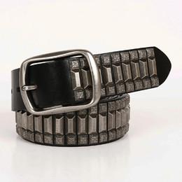 2c2a469d50a Designer Belts Rivet Punk Rock Men Women Fashion Genuine Leather Waist Belt  for Dress Jean Hip Hop Waistband Fashion Streetwear