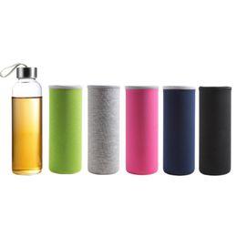 $enCountryForm.capitalKeyWord UK - Sports Borosillica glass water bottle sleeve Portable Cover Travel thermos mugs Thermos Vacuum Case Keep Warm Bottle Case bag