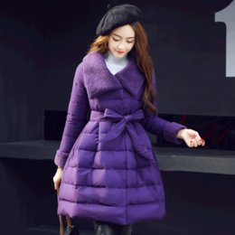 $enCountryForm.capitalKeyWord Canada - Cotton long section of high-quality women in the winter new bow loose cape bread down jackets cotton jacket tide