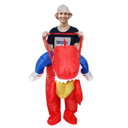 Party Red Inflatable Dinosaur Costume Adult Kids Suit Blowup Dragon Ride Outfit Good Quality Halloween Mascot Dress LJ-002  sc 1 st  DHgate.com & Inflatable Riding Costume NZ | Buy New Inflatable Riding Costume ...