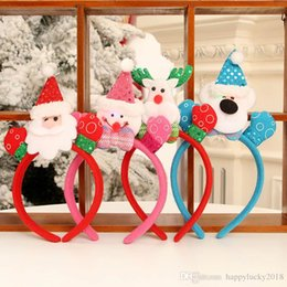 $enCountryForm.capitalKeyWord UK - Christmas decorations party supplies four seasons supplies head lead buckle Santa snowman elk bear holiday headband jewelry