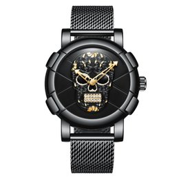 $enCountryForm.capitalKeyWord Canada - Business Quartz Men Watch Top Brand Luxury Sport Mens Watches Skull Pattern Stainless Steel Army Fashion Quartz Male Clock