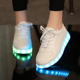 light up shoes for kids NZ - usb led shoes children's luminous shoes sneakers with kids light up shining glowing shoes for girls slippers lights schoenen 45