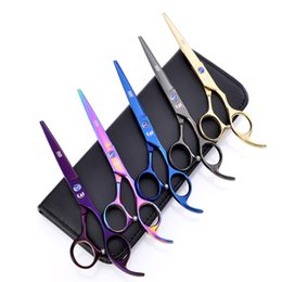 equipment cut hair NZ - Hot Sale 5 Colors Available 5.5 6.0 Inch Hairdressing Scissors Barber Hair Cutting Shears Hairdresser Equipment Tool With High Quality