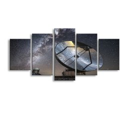 Landscape Photography Prints NZ - 5 pieces high-definition print galaxy photography reflectioncanvas oil painting poster and wall art living room picture XY-029
