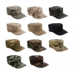 sun tan wholesalers 2019 - Outdoors Mens Camping Hiking Sun Fishing Hat Tactical Army US Camouflage Marines Hats Combat Paintball Caps ACU Tan Mult