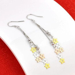 $enCountryForm.capitalKeyWord Australia - Color silver earrings S925 pure silver plated Tassel Earrings