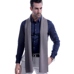 best scarf brands 2019 - 8 Solid Color Men Cashmere Scarf Winter Fashion Brand Scarf 2018 New Best Christmas Gift Wool Muffler Man Casual Scarves