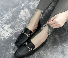 Discount flat shoes korean styles - In autumn 2017 new Korean flat shoes all-match pedal shoes retro British style shoes
