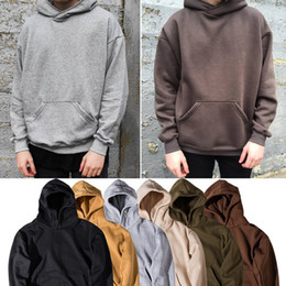 Wholesale Men s Hoodie Sweatshirt Women Men Hip Hop Streetwear Oversized Plain Pullover Hoodies Cool Winter Hooded Sweatshirt Jacket Coat SHG1102