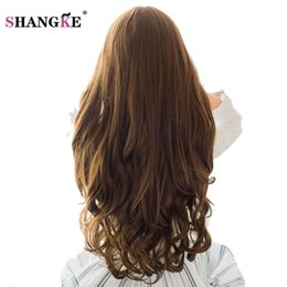 clip heat resistant hair extensions 2019 - SHANGKE 70cm 5 Clip In Hair Extension Heat Resistant Fake Hairpieces Long Wavy Hairstyles Synthetic Clip In On Hair Exte