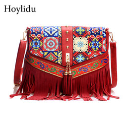 bags for cell phones christmas UK - National Style Tassel Shoulder Crossbody Bags for Women 2018 Floral Prints Luxury Handbags Women Bags Designer Retro Female Bag