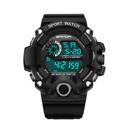 Digital Analog Sports Watches NZ - 2018 New Fashion Best Sale Wristwatches Rubber Strap G Style Shock Sports Watches LED Digital Display Wristwatch for Man Gift Watches Clock