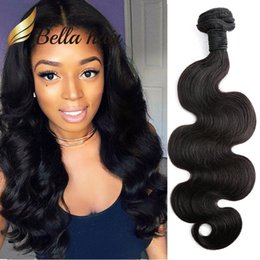 China 1 Piece Brazilian Hair Weave Bundle Natural Black Color Human Hair Extensions Thickness Donor Hair for Braid Julienchina BellaHair TO U.S. cheap human hair weave for braiding suppliers