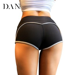 Wear Compression Shorts Australia - DANENJOY Compression Women Yoga Sports Shorts Slim Fit Tights Short Pants Quick Dry Fitness Wear Hot Shorts