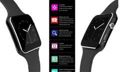 Smartwatch Écran Courbé X6 Bracelet de montre intelligente Téléphone avec fente pour carte SIM TF avec appareil photo pour Samsung Android smartwatch en Solde