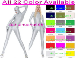 pink full body suits NZ - Unisex Sexy Body Suit Costumes New 23 Color Lycra Spandex Suit Catsuit Costumes With Open Eyes and Mouth Unisex Full Bodysuit Outfit DH050