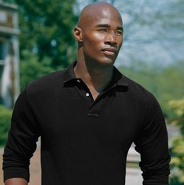 Wholesale polo long sleeved for sale - Group buy new autumn discounted small Horse Solid long sleeved cotton Men s Polo shirt size S XL Drop shipping