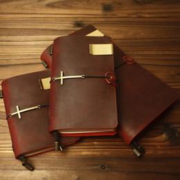 $enCountryForm.capitalKeyWord NZ - 100% Genuine Cow Leather Cover Traveler's Notebook Diary Journal Vintage Handmade Cute Travel Not Pocket