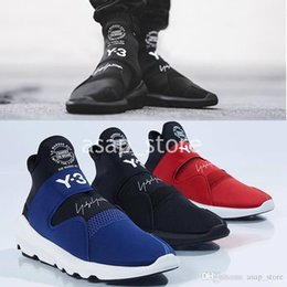 finest selection 15c90 25ad3 Yohji Yamamoto by adidas Y-3 Suberou 2018 High Fashion Y-3 Suberou Uomo  Donna Slip On Scarpe Casual Tutto Nero Bianco Rosso Blu Yohji Y3 Sneakers  Taglia 36- ...