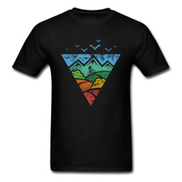 Novelty Print Tights UK - On Sale mountain biker Printed Short Sleeve Top T-shirts Fall O-Neck 100% Cotton Tops T Shirt for Men Tops Shirt Fitness Tight