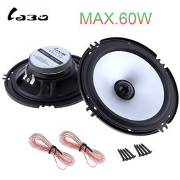 speaker 6.5 inch NZ - automobile 2pcs 6.5 Inch 60W Auto Car Automobile Vehicle HiFi Audio Full Range Frequency Loud Speaker High Pitch Loudspeaker