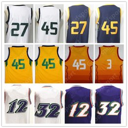 f1ed48ebf 2018 NEW Stitched Throwback jerseys Sport Gobert Jersey Christmas RUBIO day  Mitchell GIFT CITY Stockton HOT Malone RETRO fashion christmas day  basketball ...