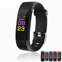 ID115 плюс смарт браслет Браслет сердечного ритма LED цветной монитор артериального давления смотреть шагомер фитнес-трекер для iPhone Android Top