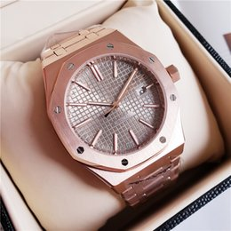 $enCountryForm.capitalKeyWord Australia - HOT SELLING Rose Gold A++ Luxury Watch Fashion Stainless Steel Strap Automatic Couple Watches Men Swiss Brand Wristwatch Sapphire Chronogr