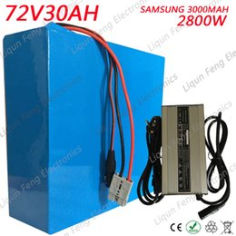 Electric 72v Battery Australia - 72V 30AH Electric Scooter Lithium ion Battery 2800W use Samsung 18650 Cell with 5A Charger 50A BMS 72V 30AH EBike li-ion Battery