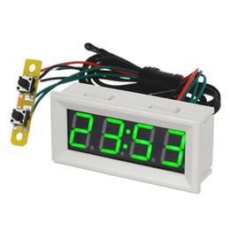 0.56 зеленый светодиодные часы напряжение температура цифровой дисплей термометр вольтметр электрические тест-метры термодатчики-Белый