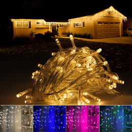wholesale led icicle string lights ac 220v fairy lights 4m 5m 8 function for christmas wedding party holiday lights