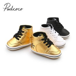 boys casual shoes style 2019 - 2018 Brand New 0-18M Newborn Toddler Baby Boys Girls Fashion Casual Pre Walker Leather Soft Sole Lace Up Baby High Shoes