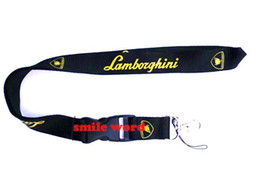 Cars Industries UK - Wholesale 10 pcs Popular car brand Lamborghini lanyard Industries Removable Key Chains Badge Pendant Party Gift moble phone lanyard