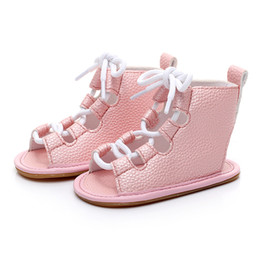 Chinese  2017 New High Quality Nubuck Leather Baby Summer boots fashion Roman girls kids shoes toddler baby girl moccasins shoes manufacturers
