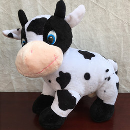 doll milk 2019 - Cute Milk Cow dairy cattle plush toy stuffed animal dolls kids great gift free shipping 1 pcs cheap doll milk