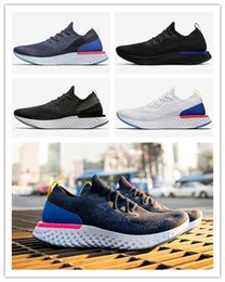 casual green shoes for mens 2019 - 2018 Epic React Running Shoes For Mens womens Newest Designer Triple Black White Oreo Blue Breathable Mesh Casual Sport