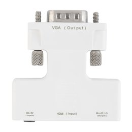 Vga Hdmi Adapters Australia - Freeshipping New Female HDMI To Male VGA Audio Adapter HDMI HD Cable Converter Adapter For Computer Laptop Desktop Whtie