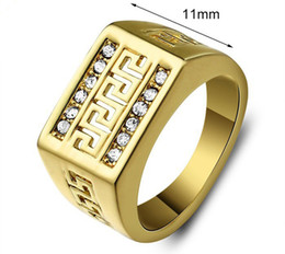 filled rings jewelry yellow women men fading wedding gold titanium steel products classic never and for