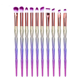 unicorn lipstick UK - Cosmetic Makeup Brushes Eyeliner Eye Kits Pincel Shadow Eyelshes Eyebrow Lipstick 10pcs Set Professional Brush Tool Unicorn Maquiagem Qxdsr