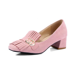 Korean wedding shoes online shopping - In the spring and Autumn period the Korean version is rough with square head fastener ASCP99