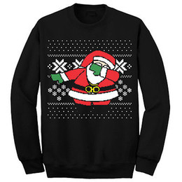 Fast Shipping 2017 Funny Santa Men Women Christmas Sweater Tops Jumper Father Xmas Ugly Xmas Sweaters Autumn Winter Pullovers
