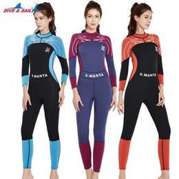 d3b5fff4c0e Discount nylon jumpsuit women - DIVE SAIL 3mm Neoprene Women Zipper Full  Body Patchwork Wetsuit One-