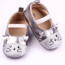 Glitter Bling Baby Australia - MiYuebb 2018 New Fashion Popular Cute Leather Vamp Glitter Kitten Comfort Baby Shoes Baby Spring And Autumn Children's Shoes