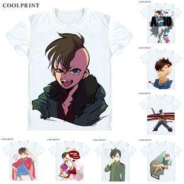 Wholesale bad boy shirts for sale – custom Fudou Akio T Shirt Inazuma Eleven Bad Boy Brothers Japan Men Casual TShirt Premium T Shirt Printed Short Sleeve Shirts