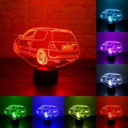 custom led christmas lights 2018 custom made car 7 colors changing night lamp 3d lamp