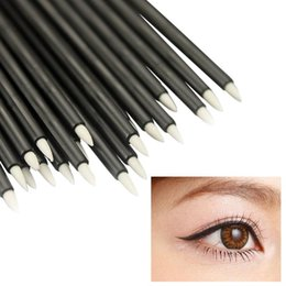 short makeup brushes NZ - 50Pcs Disposable Eye Liner Brush Short Handle Cosmetic Eyeliner Makeup Tool Make Up Brushes