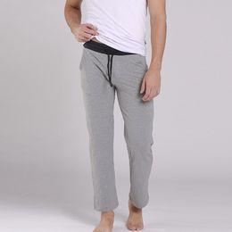 Wholesale pajama men resale online - KVF New Men Sleep Pants Smooth Loose Man Pants Casual Pajama Trousers Cool Breathable Sleep Bottoms Men